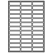 Papieren etiketten voor laserprinter
