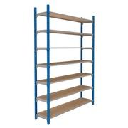 Set van 7 houten isorel legplanken voor Archiv'Pro breedte 150 cm