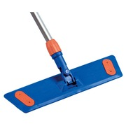 Wiper mop support for flat cleaning with velcro system