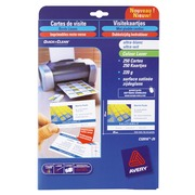 Carte de visite laser Avery Quick and Clean C32016 85 x 54 mm 220 gr blanche - Pochette de 250
