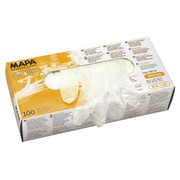 Box of 100 powdered latex gloves, size 6