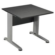 Straight desk Start Plus W 80 x D 80 cm plate black base L metal aluminium