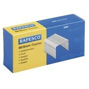 Box mit 5000 Heftklammern Rapesco 66-8 galvanisiert für Rapid 100