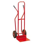 High trolley with large scoop colour red maximum carrying capacity 300 kg