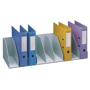 Vertical organizer with stationary separators 90cm, 10 slots - grey