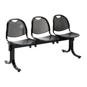 Stuhl auf Querbalken Vega 3 Sitze 150 cm - schwarzes Metall