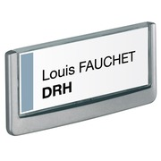 Plaque murale 7,5 x 17 cm Click Sign Durable blanche