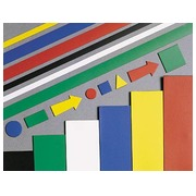 Pak 6 magneetplaatjes 15 x 15 cm gemengde kleuren