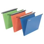 Suspension files for drawers 33 cm polypropylene, bottom 15 mm, assorted colours