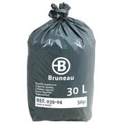 Sac poubelle 30 litres qualité supérieure Bruneau - 200 sacs