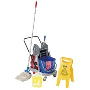 Cleaning set with cart 2 x 18 l