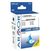 Cartridge Armor compatibel met Brother LC980-LC1100 cyaan
