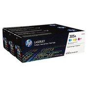 HP 305A - CF370AM Pack 3 toners couleurs