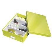 Classification module Leitz Click&Store Wow with partitions aniseed green