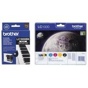 Brother big pack LC1000 1 cartouche noire + 1 multipack noir + couleur haute capacité pour imprimante jet d'encre