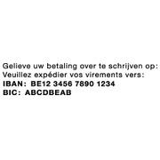 COLOP Printer 25 - IBAN/BIC