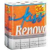 Toiletpapier met twee lagen Renova Kiss - Doos van 32 rollen van 140 vellen