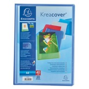 Document protection Kreacover Exacompta translucent polypropylene personalisable A4 - 20 sleeves assorted colours
