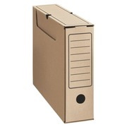 Archive boxes in brown cardboard budget back 8 cm