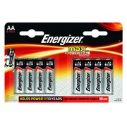 Blister met 8 alcalinebatterijen Energizer Max LR6 AA