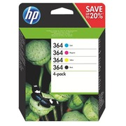 Pack cartridges HP 364 black and colours for inkjet printer