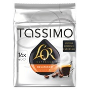 Capsules de café Tassimo L'Or Espresso Delizioso - Paquet de 16