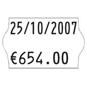 Rouleau 1200 étiquettes blanches 26 x 16 mm pour pince Judo