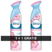 1 luchtverfrisser Febreze parfum bloesem 300 ml + 1 gratis