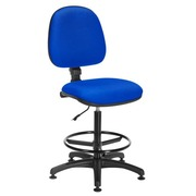 Chair Office tissue blue – permanent contact– high back