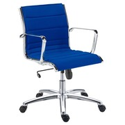 Office chair Milano fabric blue - Back H 40 cm