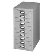 Klassieke klasseerkast monoblok 10 laden aluminium