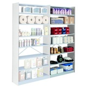 Versatile shelving, extension element, 250 x 120 cm, grey, cross braces