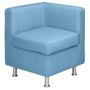 Corner module for modular sofa of Rubic - sky blue