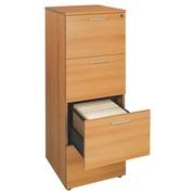 Wooden cabinet drawers for suspension files , 4 drawers, alder
