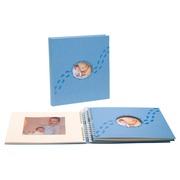 Fotoalbum PILOU baby - boekgebonden - 60 witte bladen - 29x32cm.