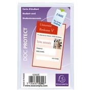 Sachet de 10 étuis de protection pour carte d'étudiant PVC lisse 20/100e.