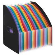 Tijdschriftenhouders Viquel Rainbow zwart 24 verdelingen