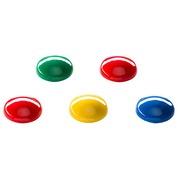 Magnete Budget - Durchmesser Ø 20 mm Sortiment von Farben - Packung von 8