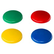 Magnete Budget - Durchmesser Ø 40 mm Sortiment von Farben - Pack von 4