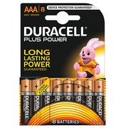 Pile Alcaline AAA LR3 Duracell Plus Power - Blister de 8