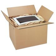 Amerikaanse doos bruine kraft dubbel gegolfd L 40 x l 30 x H 30 cm