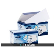 Box of 200 envelopes La Couronne white 110 x 220 mm without window 100 g + 200 envelopes for free