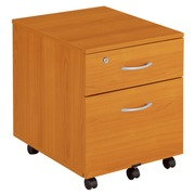 Styx, mobile drawer cabinet, cherry, 2 drawers