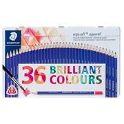 Metallic box with 36 pencils Staedtler Ergosoft in matching colors