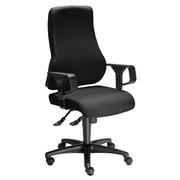Bureaustoel Dhark met regelbare armleuning 1D - zwart