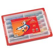 Crayon de couleur Stabilo Trio 96 crayons, en boîte plastique