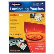Fellowes pochette à plastifier Capture125 ft A4, 250 microns (2 x 125 microns), paquet de 25 pièces
