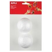 Apli boule en polystyrène, diamètre 70 mm, blister de 2 pièces