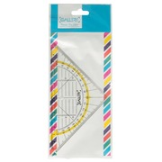 Gallery Passion For Colour geodriehoek, transparant, 16 cm, op blister