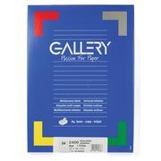 Gallery étiquettes blanches ft 70 x 36 mm (l x h), coins carrés, 24 par feuille